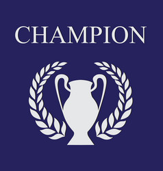champion blue 2 vector image vector image
