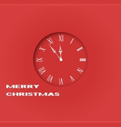 Christmas clock vector image vector image