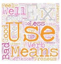 Commonly Misused Words and how to use them vector image vector image