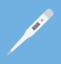 digital thermometer for medical examination vector image