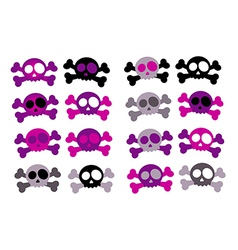 Girly skulls vector image