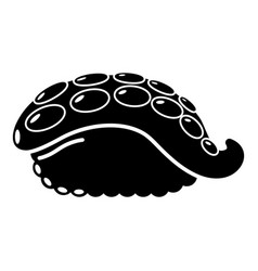 sushi octopus icon simple black style vector image