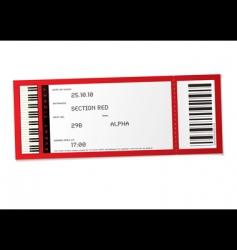 concert event ticket vector image
