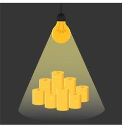 Have idea have money Idea is money Idea concept vector image vector image