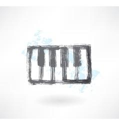 piano keys grunge icon vector image