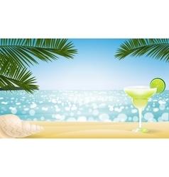 Summer seascape blur bokeh vector image vector image