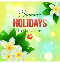 Summer shining typographical background with vector image vector image