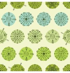 abstract green polka dot stripes seamless vector image vector image