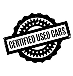 Certified used cars rubber stamp vector