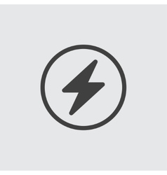 Flash icon vector image