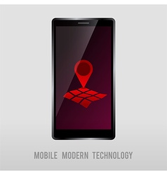 Mobile device with geo mark vector