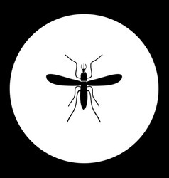 Mosquito insect simple black and green icon eps10 vector