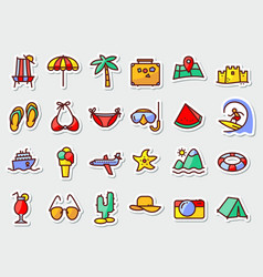 pictogram with recreation travel and vacation vector image