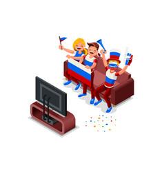 russia football team flag vector image vector image