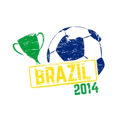 Brazil 2014 stamp vector image vector image