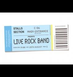 concert ticket vector image vector image