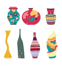 decorative vases vector image vector image