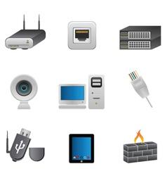 digital data elements vector image