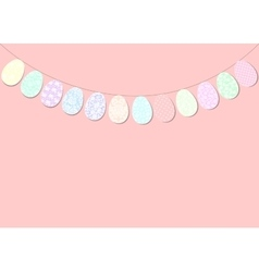 Easter bunting decoration vector image