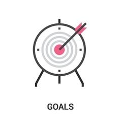 Goals icon concept vector