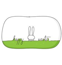 happy bunny easter vector image