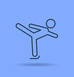isolated linear icon of figure skating vector image