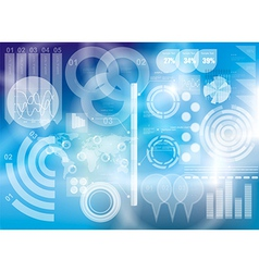 Modern virtual technology background vector image vector image