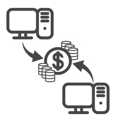 Money collection icon vector image vector image