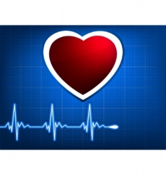 normal ecg blue background vector image vector image