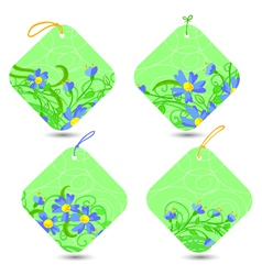 spring tags vector image vector image