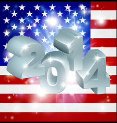 2014 american flag vector image