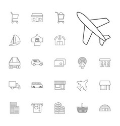 22 commercial icons vector