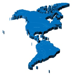 3d map of Americas vector image