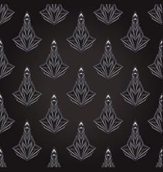 Art deco style geometric seamless pattern in black vector