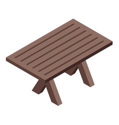 Bbq patio table icon isometric style vector