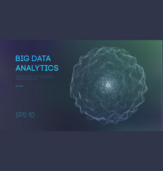 big data analytics future technology vector image