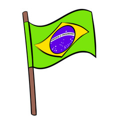 Brazil flag icon cartoon vector
