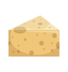 Cheese delicious portion isolated icon vector
