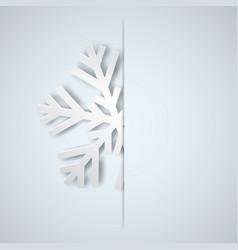 christmas background with big snowflake vector image