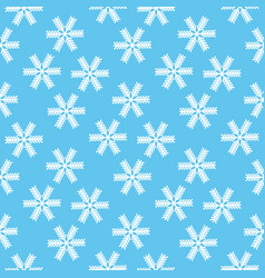 christmas seamless pattern of snowflakes with vector image