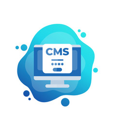 Cms login icon content management system vector