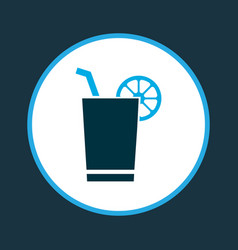 cocktail with lemon icon colored symbol premium vector image