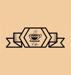 coffee icon vintage retro vector image