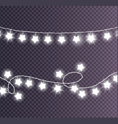 colorless festive garlands set decorations stars vector image