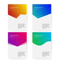cover report colorful geometric shapes info vector image
