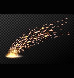 creative of welding metal fire vector image