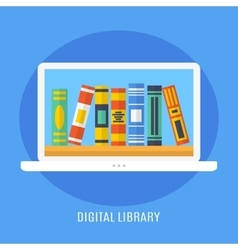 Digital Library vector