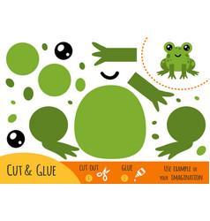 education paper game for children frog vector image