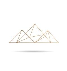Egypt pyramids icon vector
