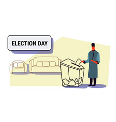 election day concept caucasian man traditional vector image